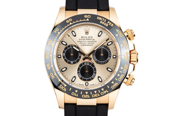 2017 Rolex 18K Gold Ceramic Daytona 116518LN with Box and Papers photo