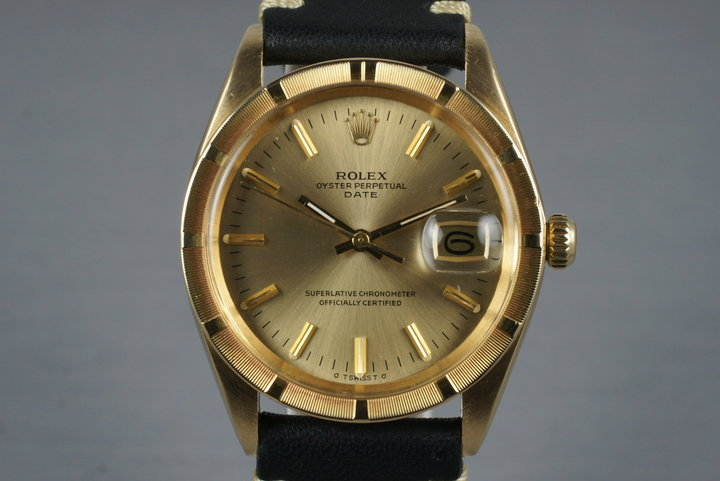 1977 Rolex 18K Date 1501 with Champagne Sigma Dial photo