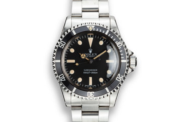 1982 Rolex Submariner 5513 MK IV Maxi Dial photo