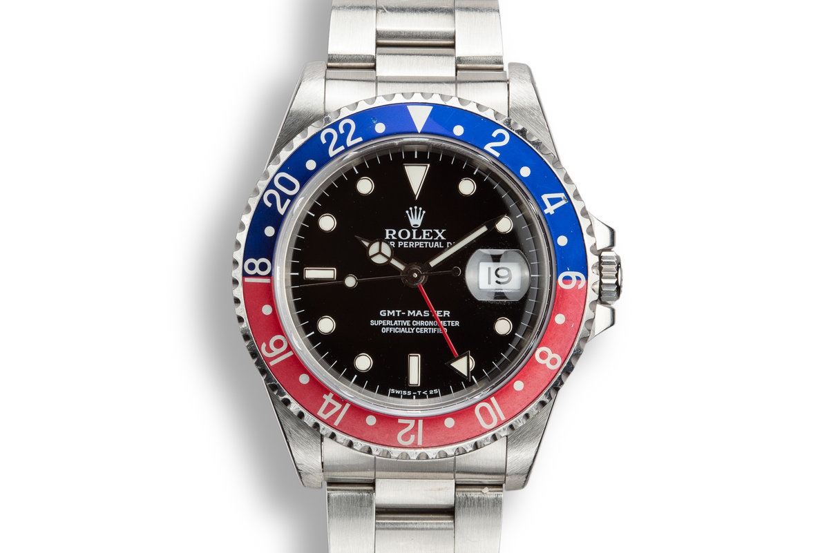 """1993 Rolex GMT-Master 16700 """"Pepsi"""" with Box, Papers, and Service Papers photo, #0"""