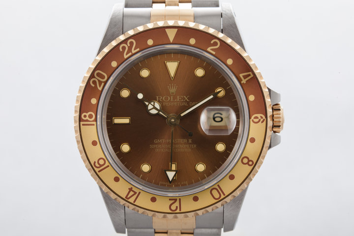 1991 Rolex Two Tone GMT II 16713 with Root Beer Dial photo