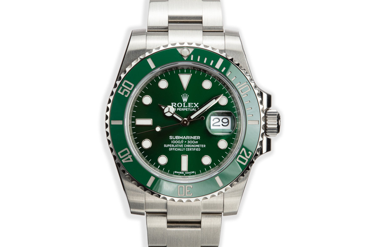 2019 Rolex Green Submariner 116610LV with Box and Papers photo, #0