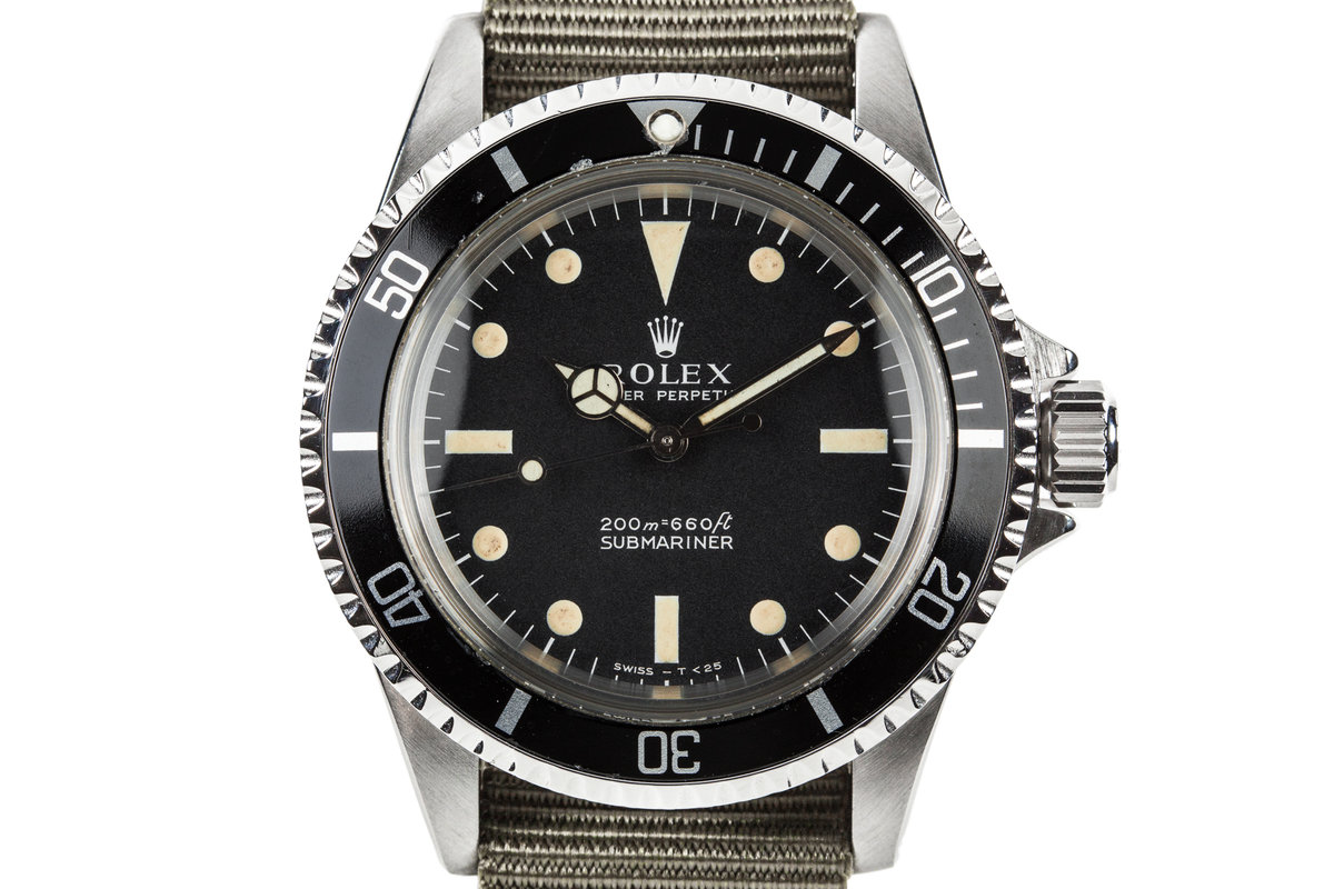 1966 Rolex Submariner 5513 with Meters First Dial and Service Papers photo, #0