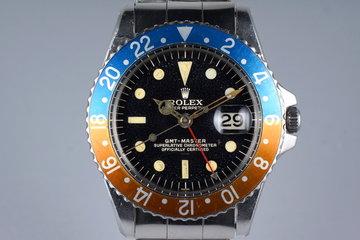 1963 Rolex GMT 1675 PCG Gilt UNDERLINE Dial photo