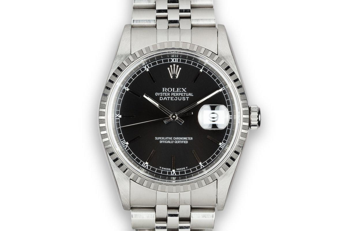 1997 Rolex DateJust 16220 Black Dial photo, #0