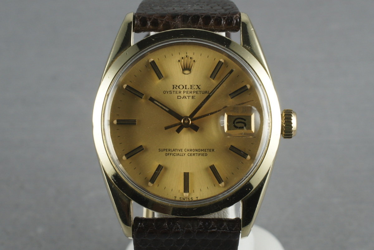 1979 Rolex Date 1550 Gold cap photo, #0