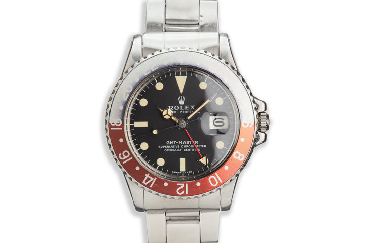 """1971 Vintage Rolex GMT-Master 1675 """"Pepsi"""" Matte Dial with Box and Papers photo"""