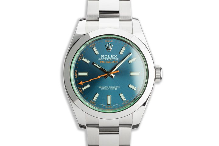 2020 Rolex Milgauss 116400GV Blue Dial with Box and Card photo