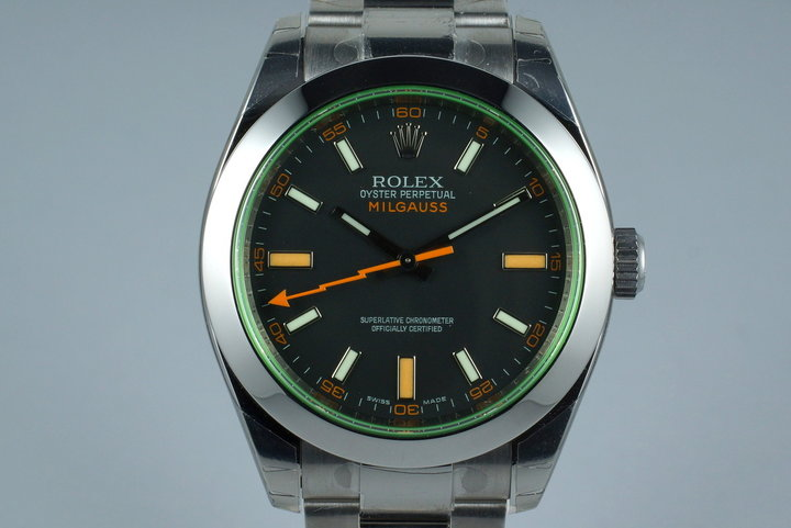 2009 Rolex Milgauss Black Dial 116400V MINT with Box and Papers photo