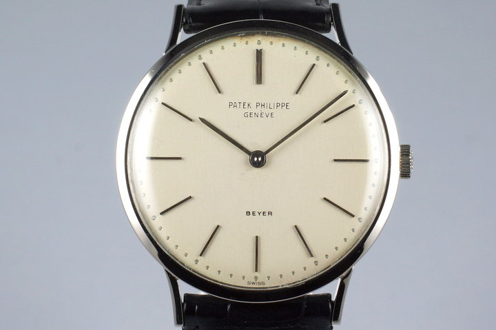 Vintage WG Patek Philippe 3484 with Beyer Double Name Dial photo