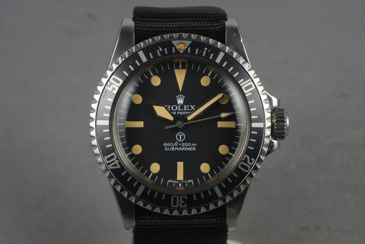 1977 Rolex Submariner  5517 Full Spec W10 with RSC London Service Papers photo