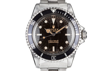 1967 Rolex Submariner 5513 Gilt Meters First Dial with Spider Cracking Patina photo