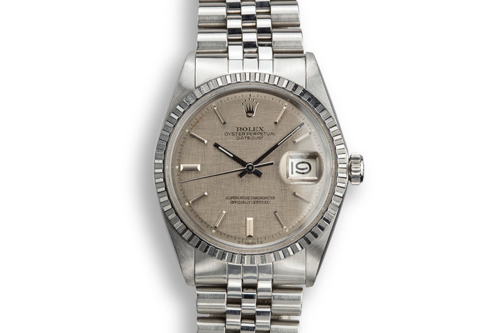 1972 Rolex DateJust 1603 with Grey Linen Sigma Dial photo