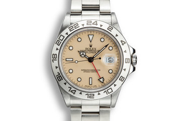 1986 Rolex Explorer II 16550 Cream Dial with Box and Papers photo
