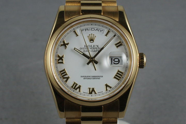 2000 Rolex President 118238 with Smooth bezel aging to a rosy patina photo
