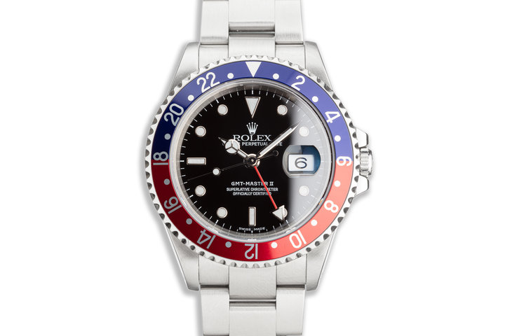 "2000 Rolex GMT-Master II 16710 ""Pepsi"" Bezel Box & Papers photo"