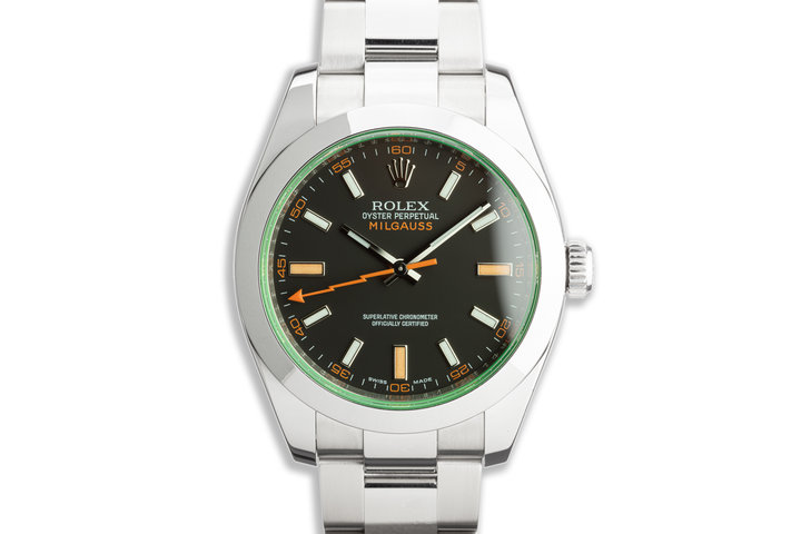 2011 Rolex Milgauss 116400GV Black Dial with Box and Card photo