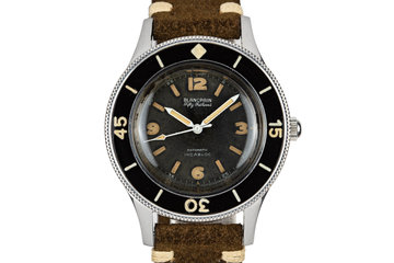 Blancpain Fifty Fathoms Gilt Aqualung Rotomatic INCABLOC photo