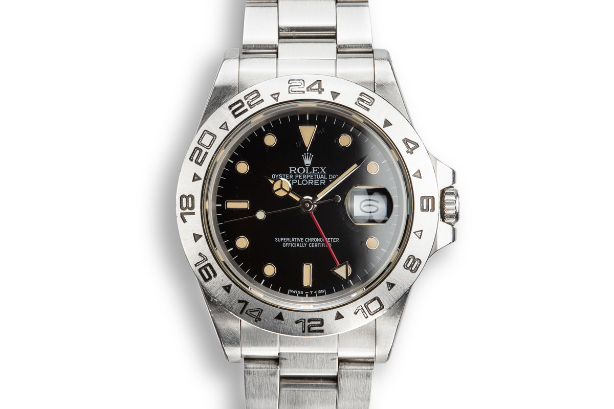 1987 Rolex Explorer II 16550 Black Dial with Box and Papers photo, #0