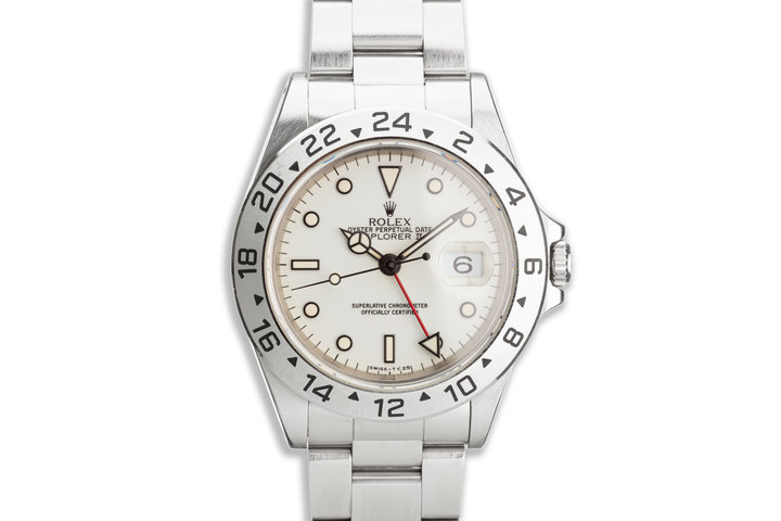 "1995 Rolex Explorer II 16570 ""Polar"" White Dial photo"