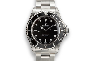 "1997 Rolex Submariner 14060 ""SWISS"" Only Dial photo"