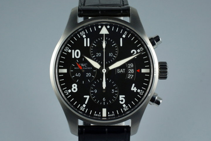 2014 IWC Pilot's Chronograph IW3777-001 with Box and Papers photo