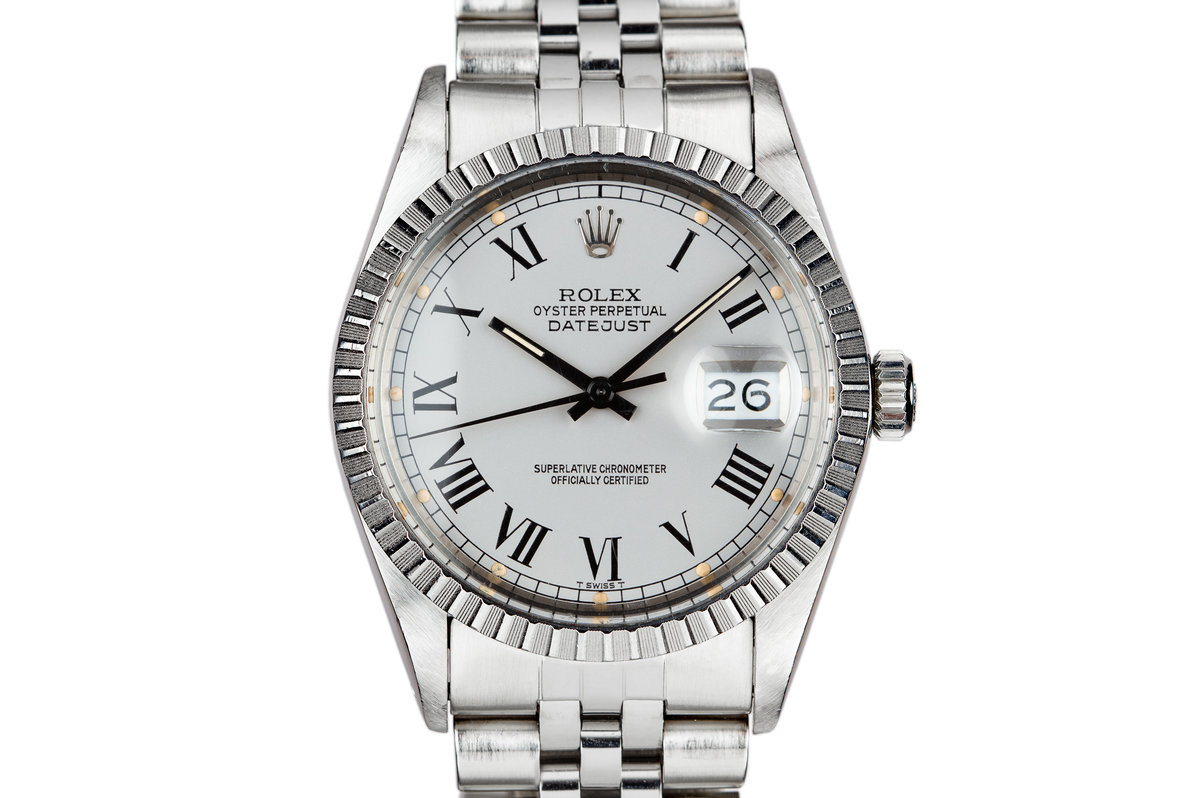1986 Rolex DateJust 16030 Service Case with Silver Buckley Dial photo, #0