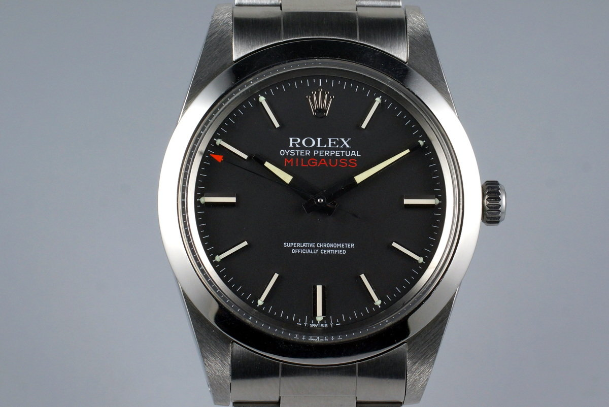 1979 Rolex Milgauss 1019 Black Dial with RSC Papers photo, #0