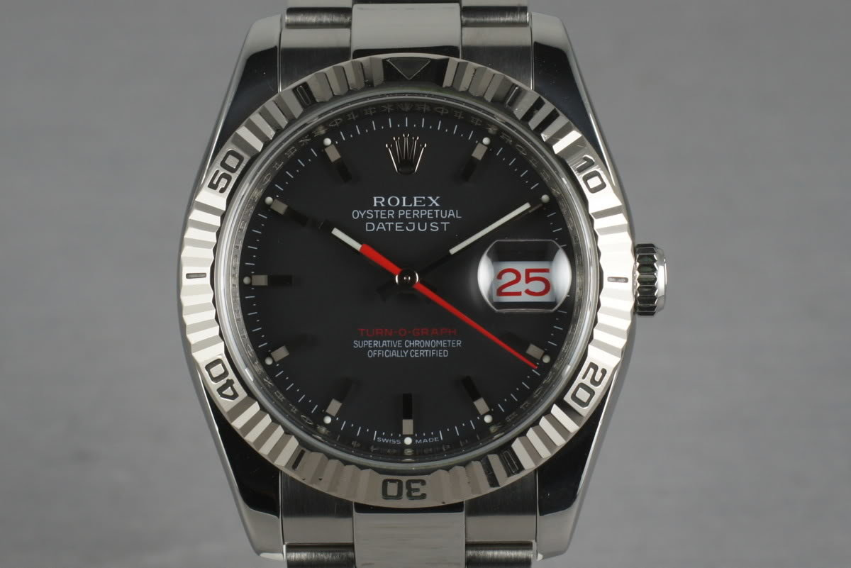 2003 Rolex Datejust Turn-O-Graph 116264 with Black Dial photo, #0