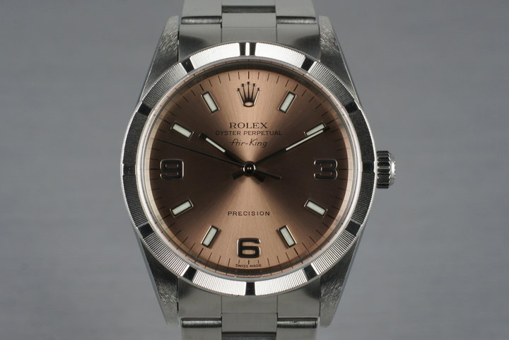 2001 Rolex Salmon Dial Air-King 14010M photo