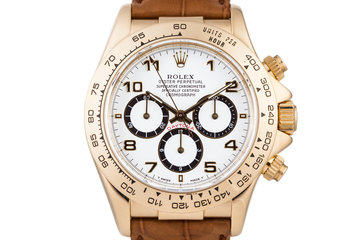 1991 Rolex YG Zenith Daytona 16518 White Dial with Rolex Box photo
