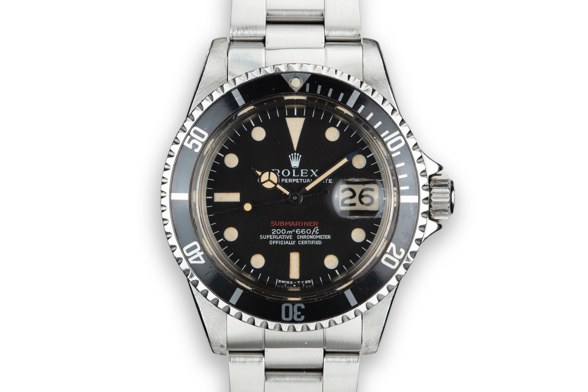 1969 Rolex Red Submariner 1680 with Mark 1 Long F Meters First Dial photo, #0