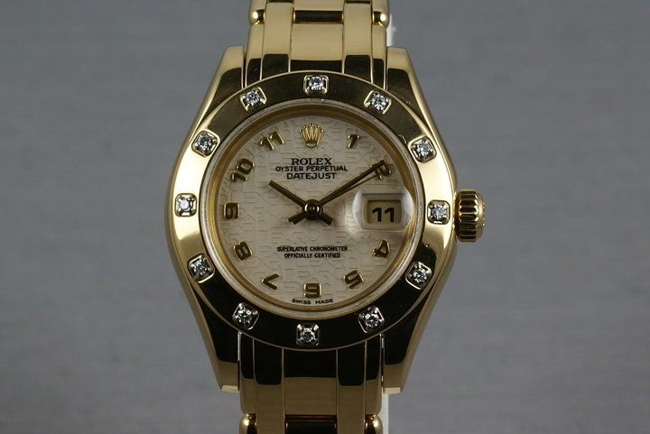 Rolex Ladies Masterpiece 69318 with12 Diamond Bezel photo