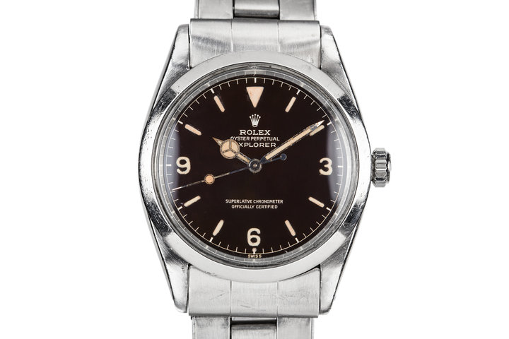 1960 Rolex Gilt Explorer I 1016 with Glossy Dark Brown Chapter Ring Dial photo