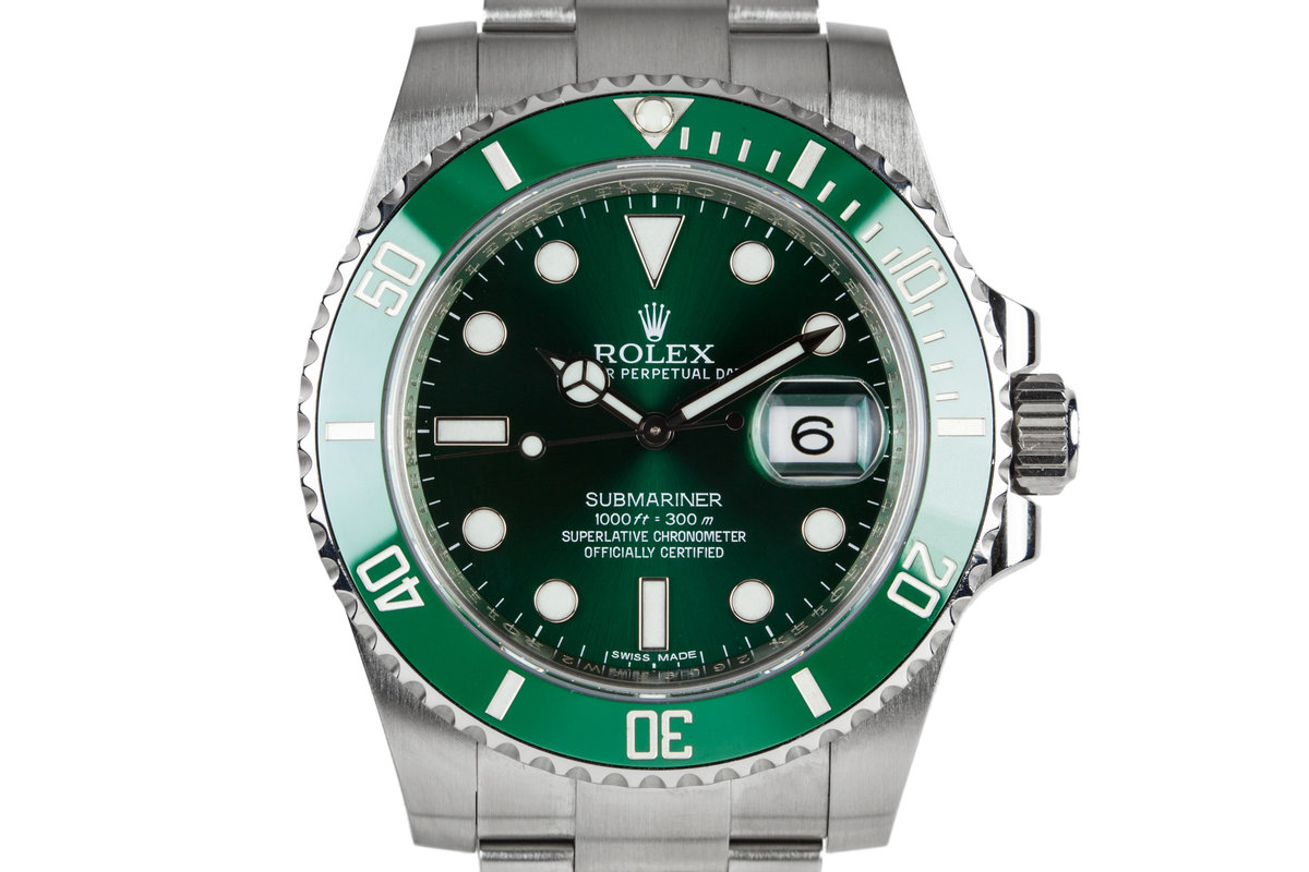 """2014 Rolex Submariner """"Hulk"""" 116610LV with Box and Papers photo, #0"""