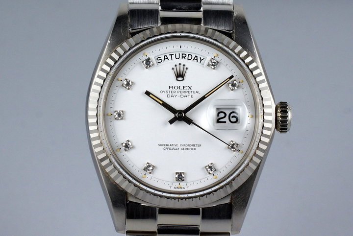 1967 Rolex WG Day-Date 1803 with Factory Diamond Dial photo