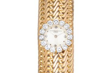 Vacheron Constantin 18K Bracelet Watch with Diamond Surround and Markers photo