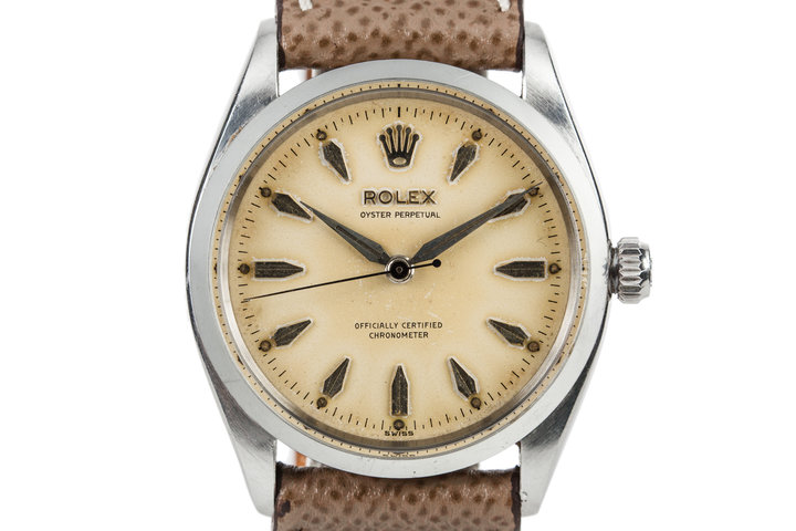 1956 Rolex Oyster Perpetual 6564 Swiss Only Dial photo