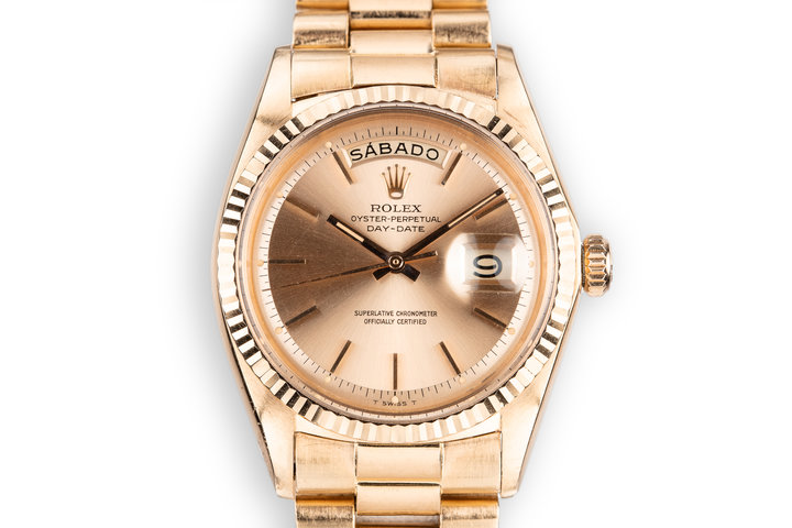 1967 Rolex 18K Rose Gold Day-Date 1803 photo