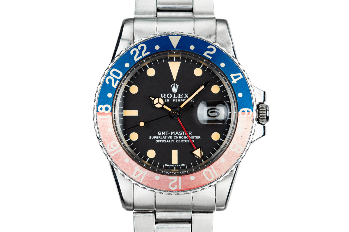 """1972 Rolex GMT-Master 1675 with Faded """"Pepsi"""" Bezel Insert photo, #0"""