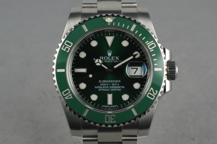 2008 Ceramic Rolex GREEN Submariner 116610V Box and Papers photo