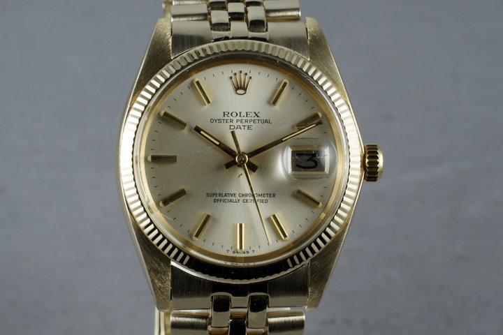 1978 Rolex 14K Gold Date 1503 photo