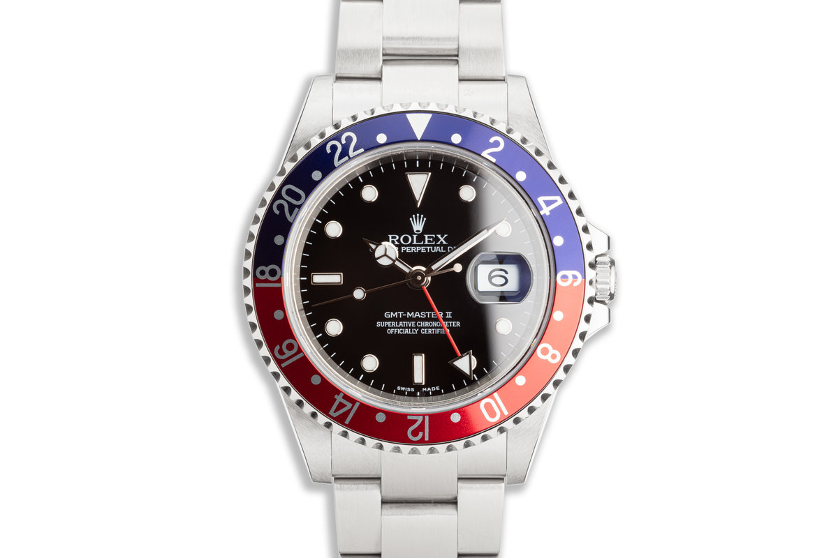 "2005 Rolex GMT-Master II 16710 ""Pepsi"" with Box and Service Card photo, #0"
