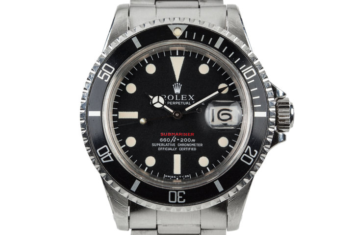 1970 Rolex Red Submariner 1680 with MKIV Dial photo