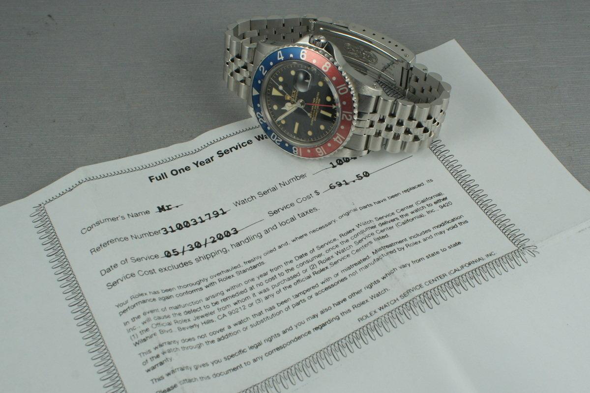 HQ Milton - Vintage Rolex GMT 1675 PCG,gilt chapter ring Underline