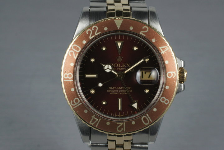 1970 Rolex Two Tone GMT 1675 Root Beer Dial photo