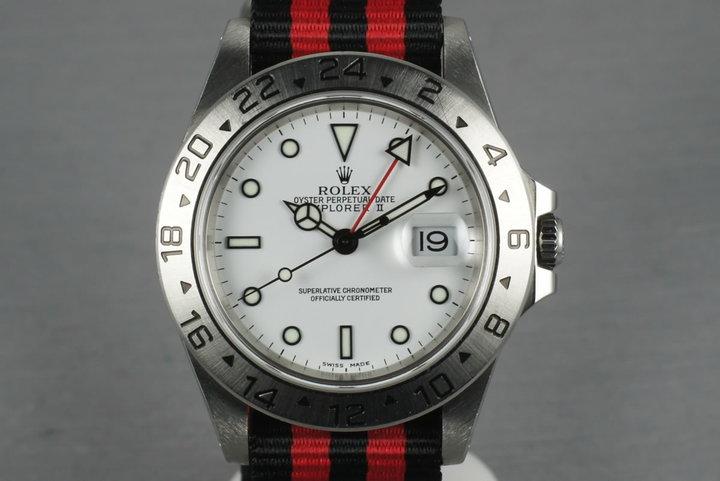 2000 Rolex Explorer II 16570 White Dial photo