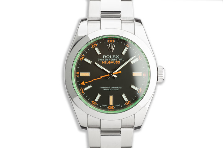 2010 Rolex Milgauss 116400GV Black Dial with Box and Card photo