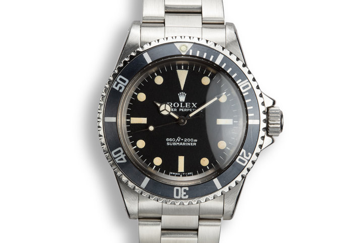 1971 Rolex Submariner 5513 with Box and Papers photo