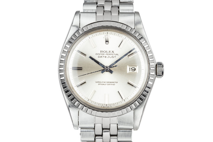 1970 Rolex DateJust 1603 No Lume Silver Dial photo